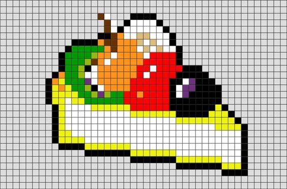 Картинки рисунков по клеточкам еды