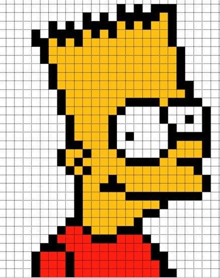 Пиксельные рисунки для paint