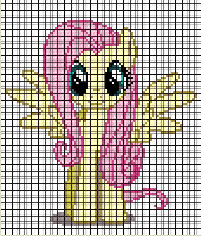 Милый пони - Схема для вышивания крестиком